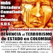 No más dictadura camuflada en Colombia; ayude a difundir esta imagen