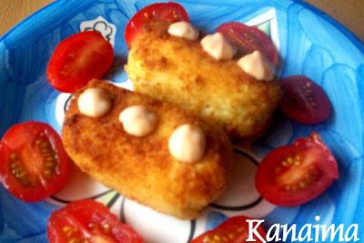 Croquetas de pollo al queso crema