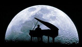 o músico na lua...