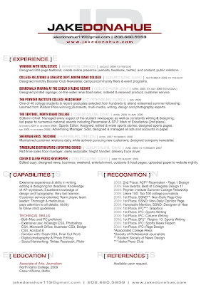 jake s page design updated resume references