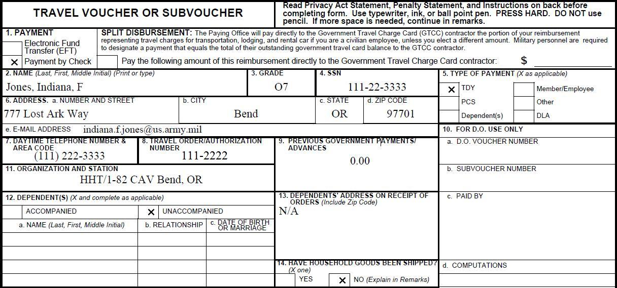 travel voucher example