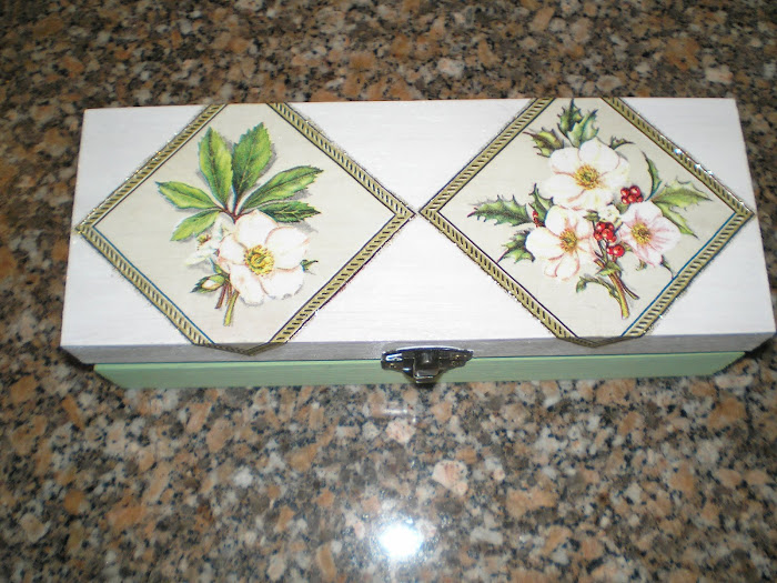 Caixa 3 divisões Branco/Verde