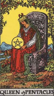 Queen of pentacles, Rider Waite Tarot
