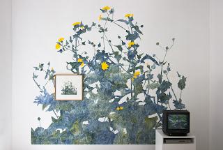 Richard Müller: Peinture murale Plantes poussant devant l'atelier 8