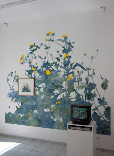 Richard Müller: Vue d'installation exposition Prairies galerie la Ferronnerie