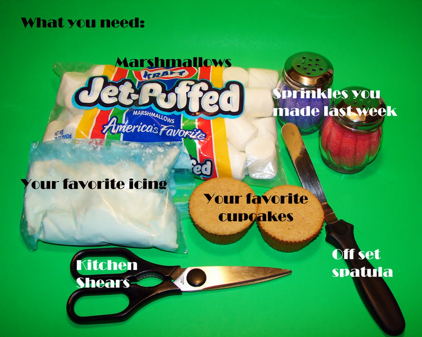 how to cut marshmallow flowers