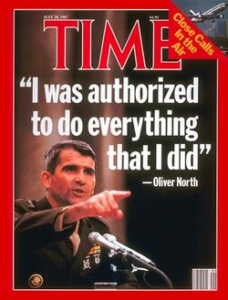 Oliver North on the cover of Time Magazine