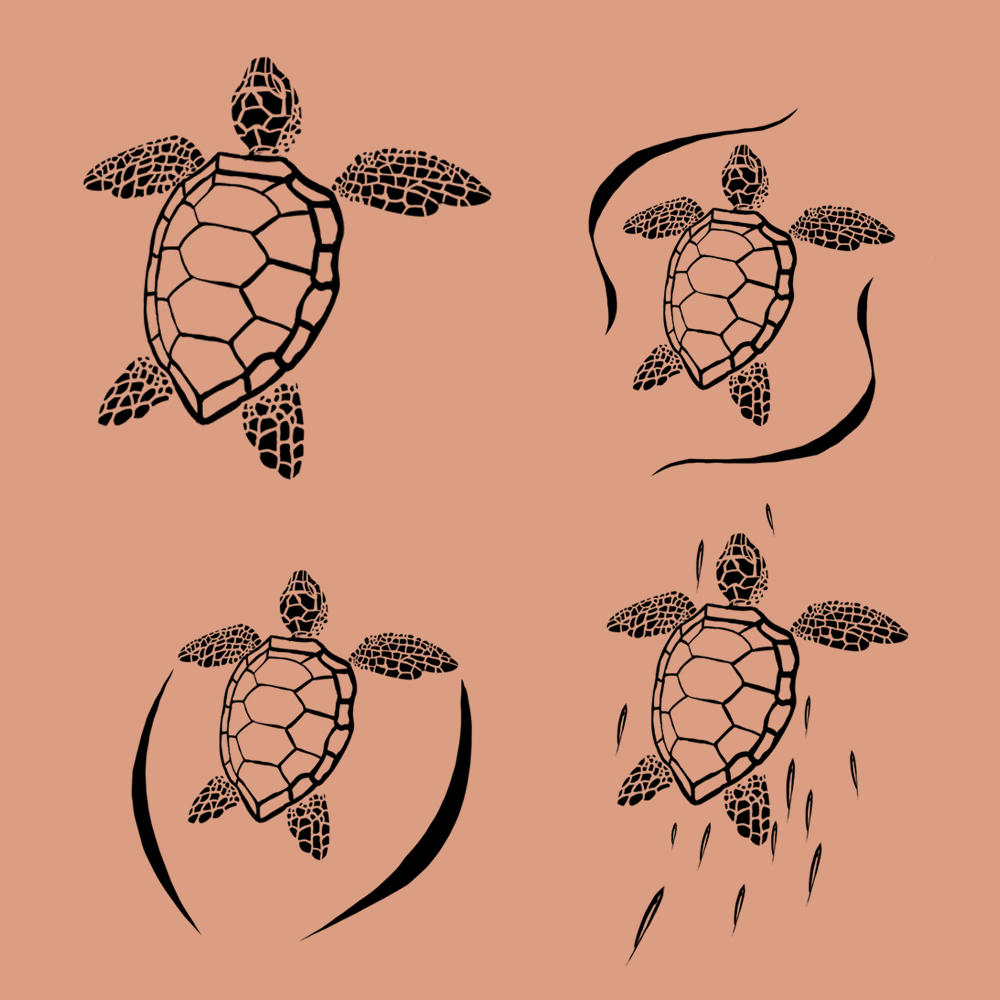 Green Sea Turtle Tattoo Designs