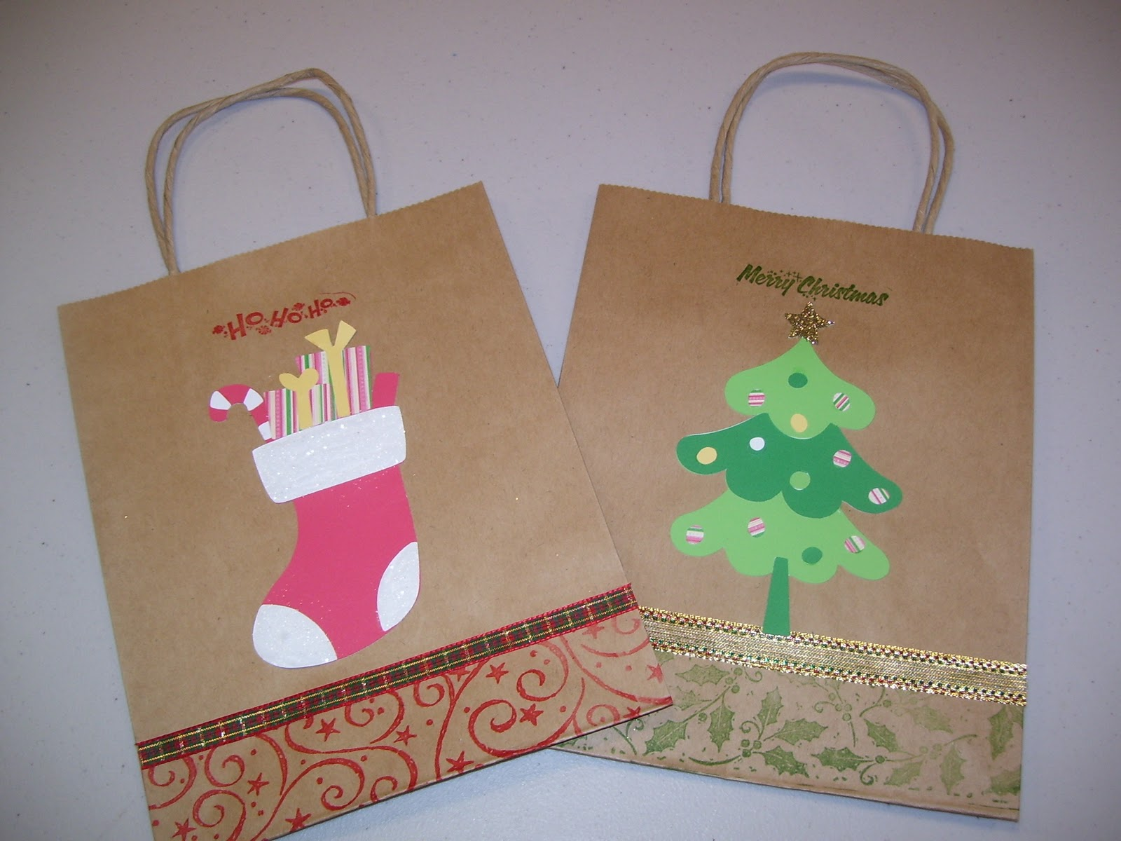 Create your classroom christmas gift bags for Brown paper craft bags