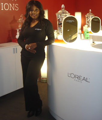l'oreal makeup artist brandy gomez duplessis on l'oreal stage