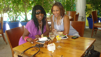 having lunch at the shoreclub hotel in miami