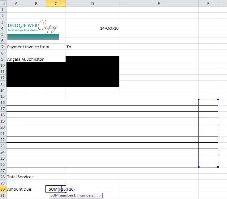 freelance invoice - rockcup.tk, Invoice templates