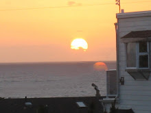 <b>Sunset From Ocean Rose Cottage Living Room</b>