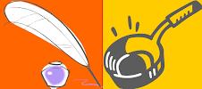Pluma y Sartén