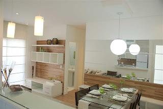 A casa os casos espelhos sala de jantar for Decorando departamentos pequenos