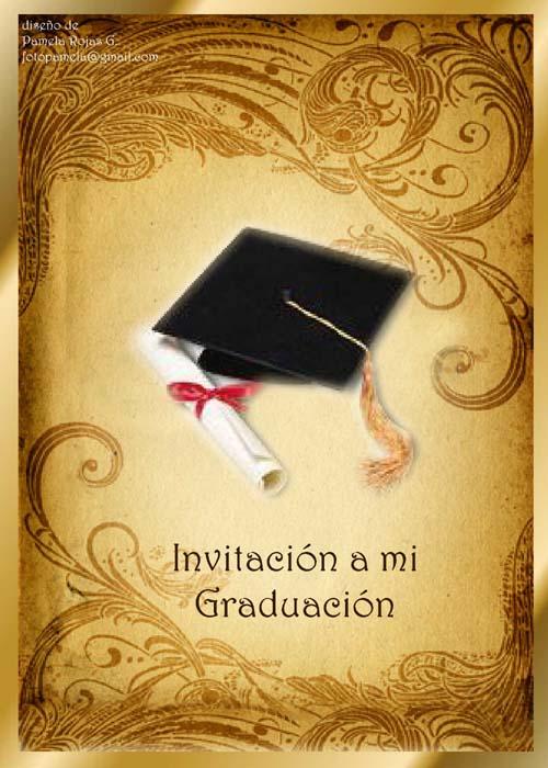 Tarjetas de invitación de grado universitario para imprimir - Imagui