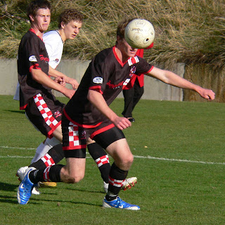 Photos Top To Bottom Eagles Adam McKeown Eludes The Knights Alex Holmes Adrian Lawler Heads Clear Pursued By