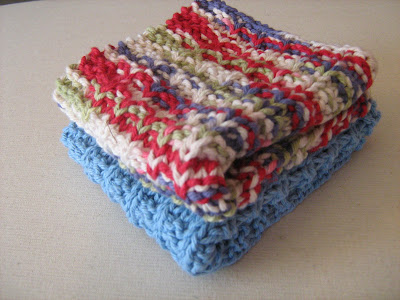 Cotton Knitted Dishcloth Pattern : Totally Real: Knitted Cotton Dishcloths