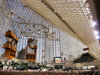 The Crystal Cathedral in California - photo from Wikipedia