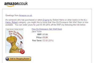A strange recommendation email from Amazon.co.uk