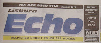 Lisburn Echo free sheet masthead