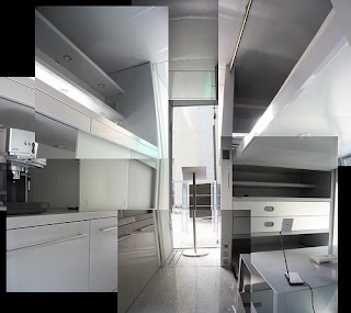Collage of the inside of a Micro Compact Home - photo by Ramuardo