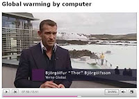 Still from Susan Watt's Newsnight report on global warming by computer (c) 2008 BBC