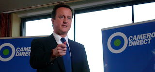 David Cameron speaking in Belfast at a Cameron Direct event
