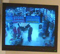 CCTV image of closing down signs inside The Pier unit in Belfast's Victoria Square