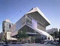Seattle library, designed by Rem Koolhaas