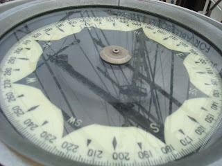 Reflection of masts in ship's compass