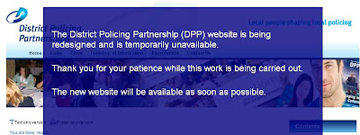 District Policing Partnership website down - no contact details on the holding page