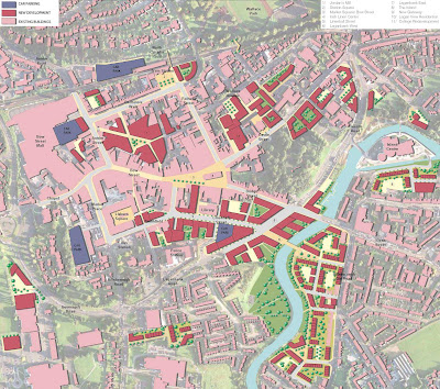Proposed usage map for Lisburn Masterplan