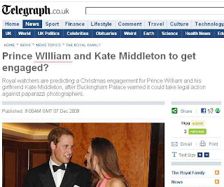 Telegraph headline - incorrect capitalisation in Prince WIlliam headline