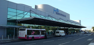 Photo of the front of George Best Belfast City Airport terminal