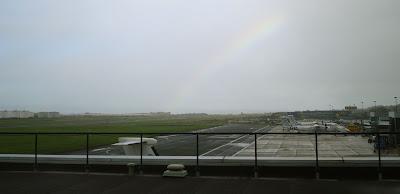 View from Air Traffic Control tower at Belfast City Airport