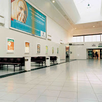 Image of tiled concourse inside Belfast Central Station