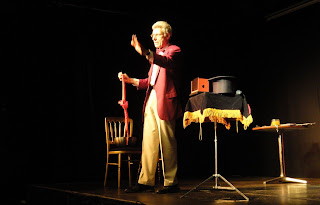Marxist Magician Ian Saville at CQAF's Out to Lunch Arts Festival in January 2011