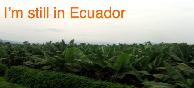 I'm still in Ecuador
