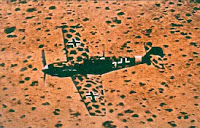 A Nazi Germany Messerschmitt BF-109E-4/Trop from the I/JG 27 over Libya, 1941