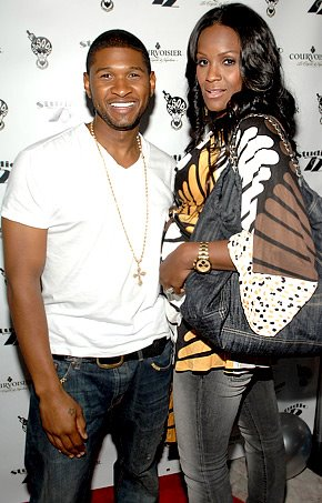 usher and wife.  usher and wife tameka foster