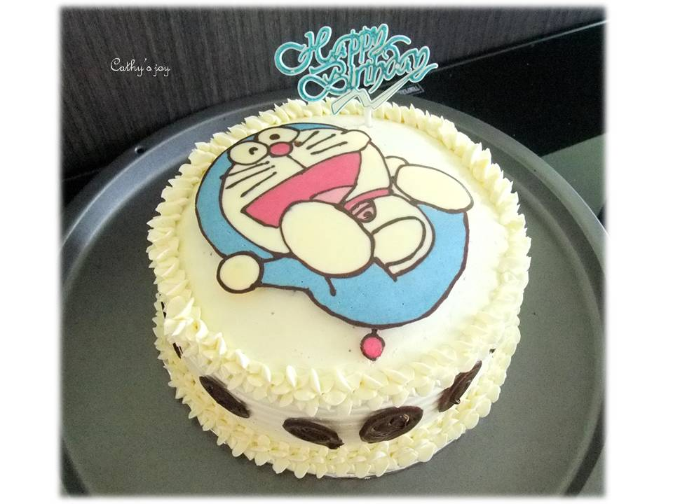 Small Images Of Birthday Cake : cathy s joy: Doraemon birthday cake