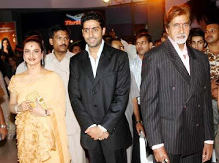 The release of Sarkar, complety ignores her presence. Amitabh should at  laest pose properly for the picture, we can see you are together you idiot!
