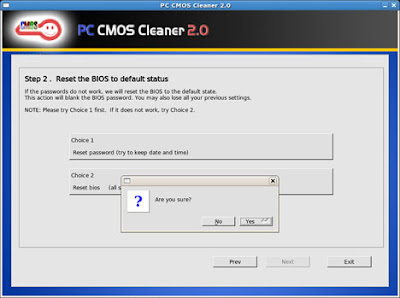 Reset BIOS Password with CMOS Cleaner Software