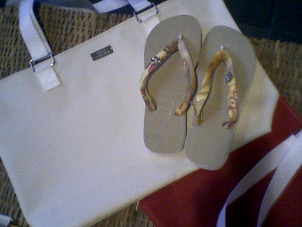 bolsa e sandlia customizada