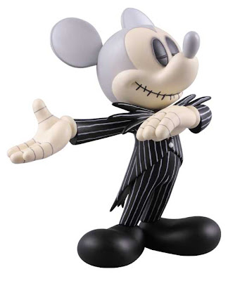 Mickey Mouse Runaway Brain and Jack Skellington
