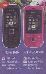 Nokia 1616 and Nokia 220 Slide