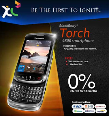 Pre-Order BlackBerry Torch 9800 XL