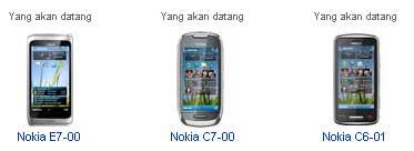 Harga Nokia E7-00, C7-00, C6-01 Indonesia