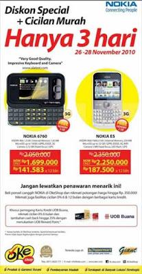 Harga Nokia E5 dan Nokia 6760 Oke Shop